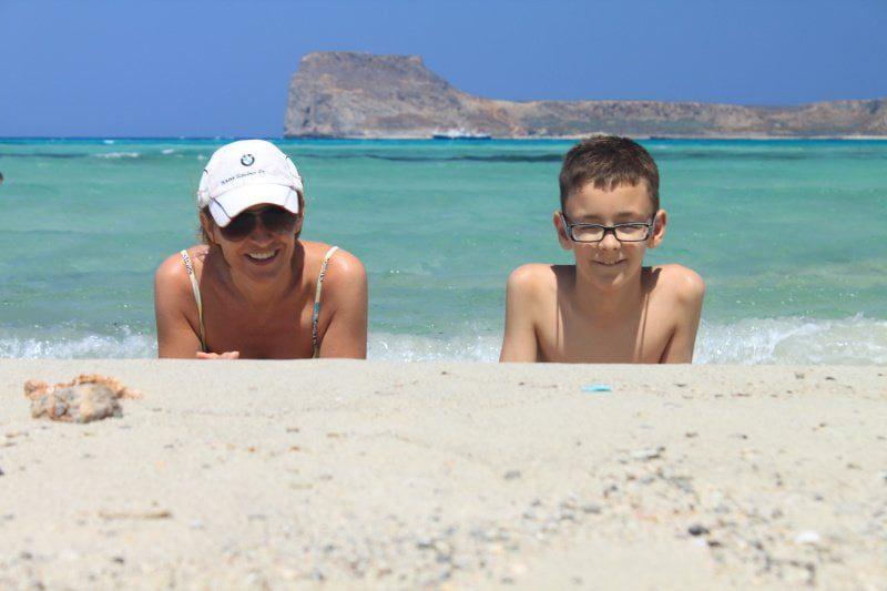 Dorota i Igor na plaży Balos na Krecie