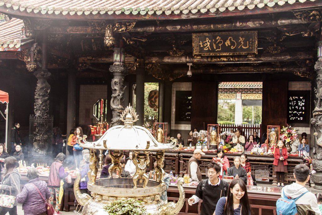 buddyjskaa świątynia w Taipei