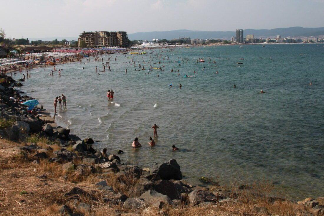 plaża w Słonecznym Brzegu w Bułgarii
