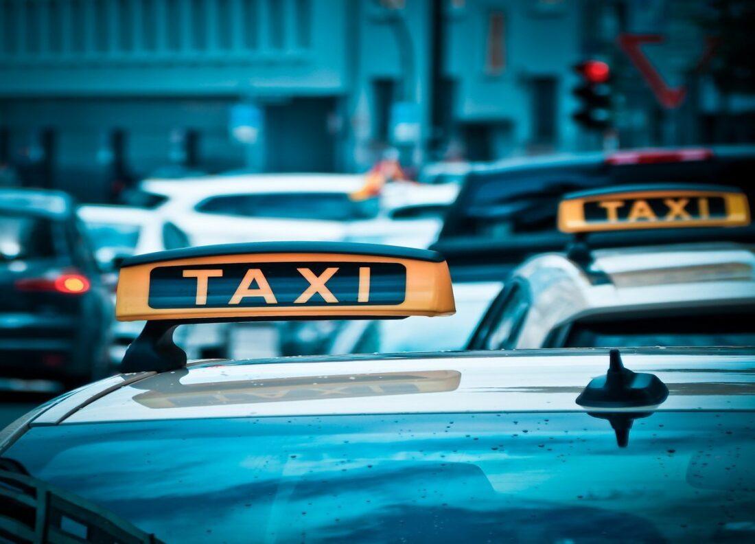 kogut na taksówce