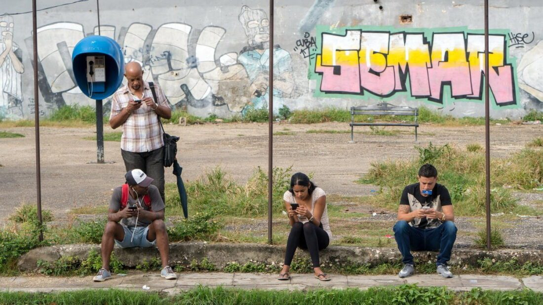 punkt z internetem na Kubie