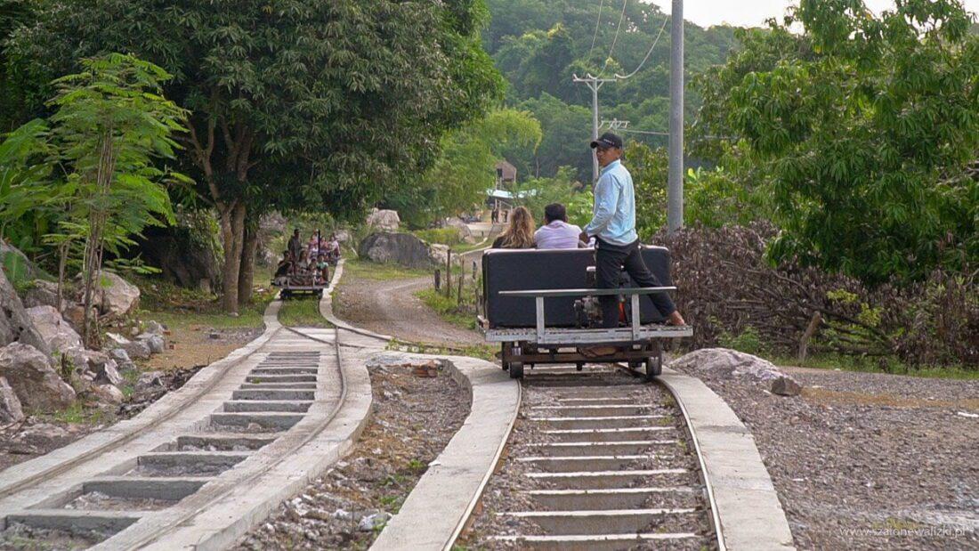 bamboo train
