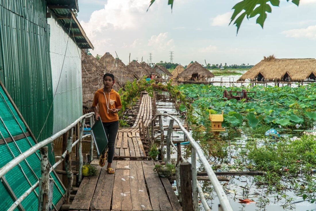 tonle sap w kambodży