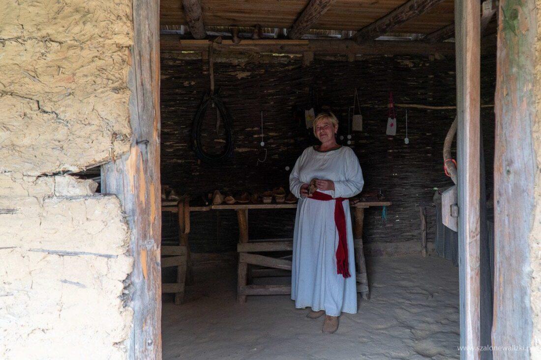 domek szewca w osadzie średniowiecznej