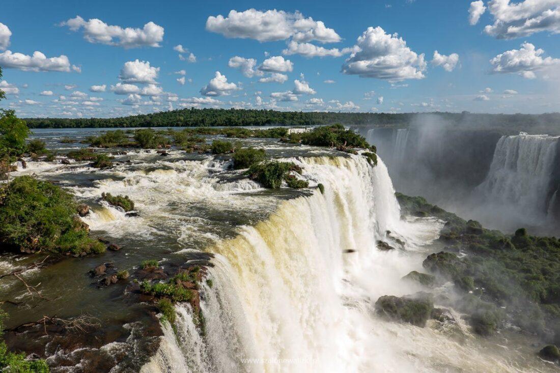 brazylijska strona wodospadu iguazu