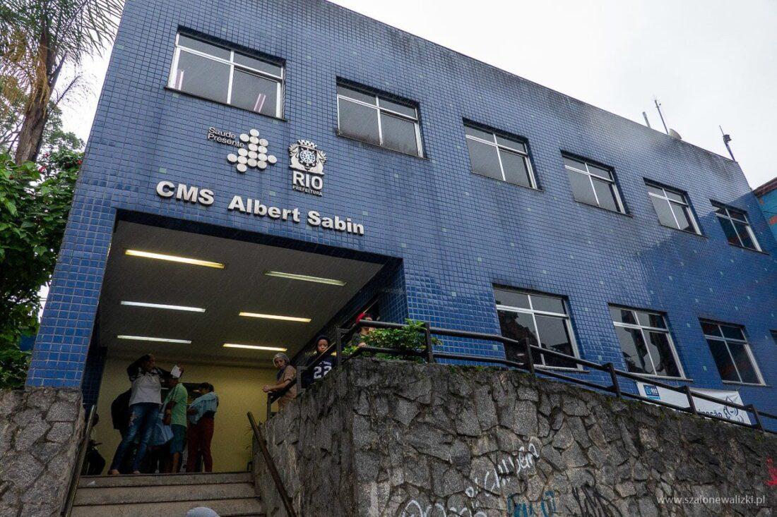 przychodnia zdrowia w Rocinha