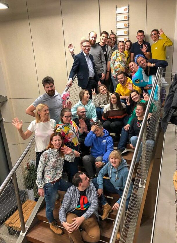 podróżnicy z prezydentem olsztyna