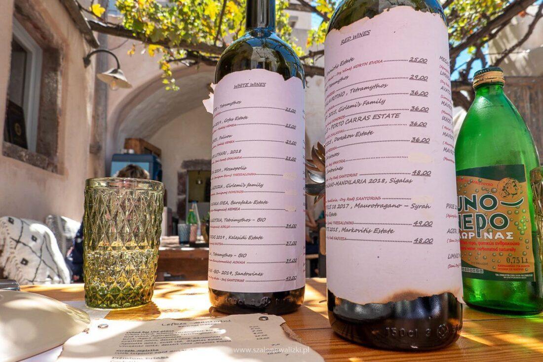 greckie wina santorini