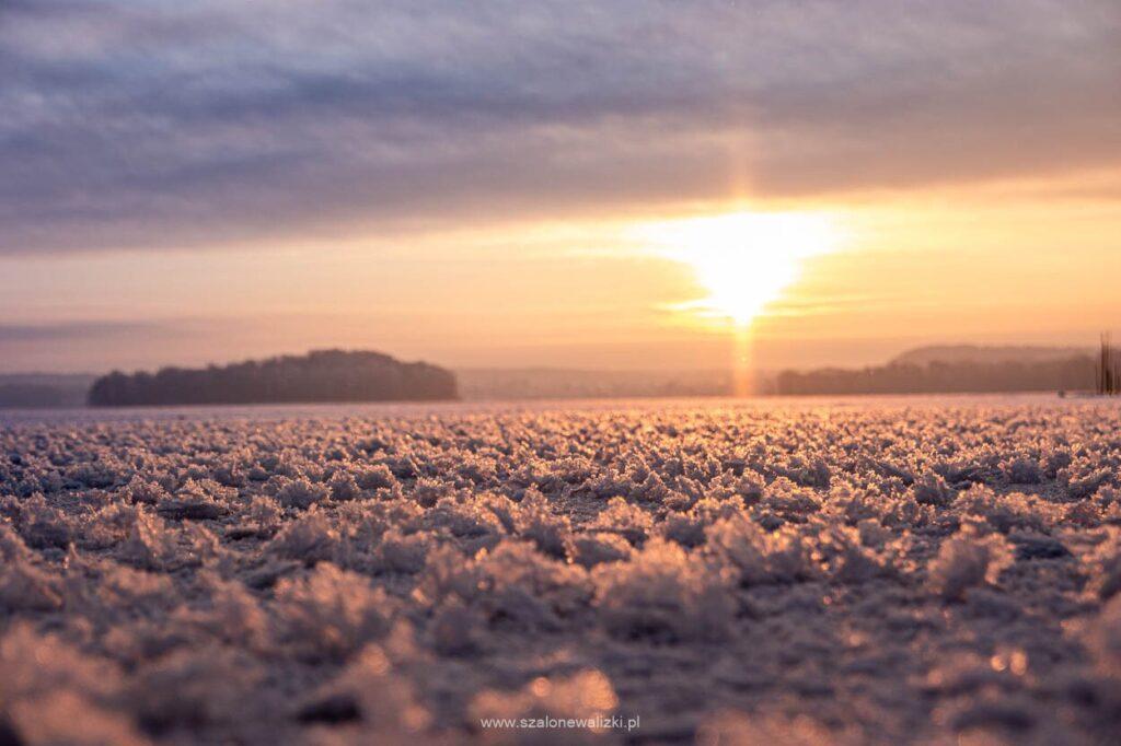 jezioro wulpińskie zimą